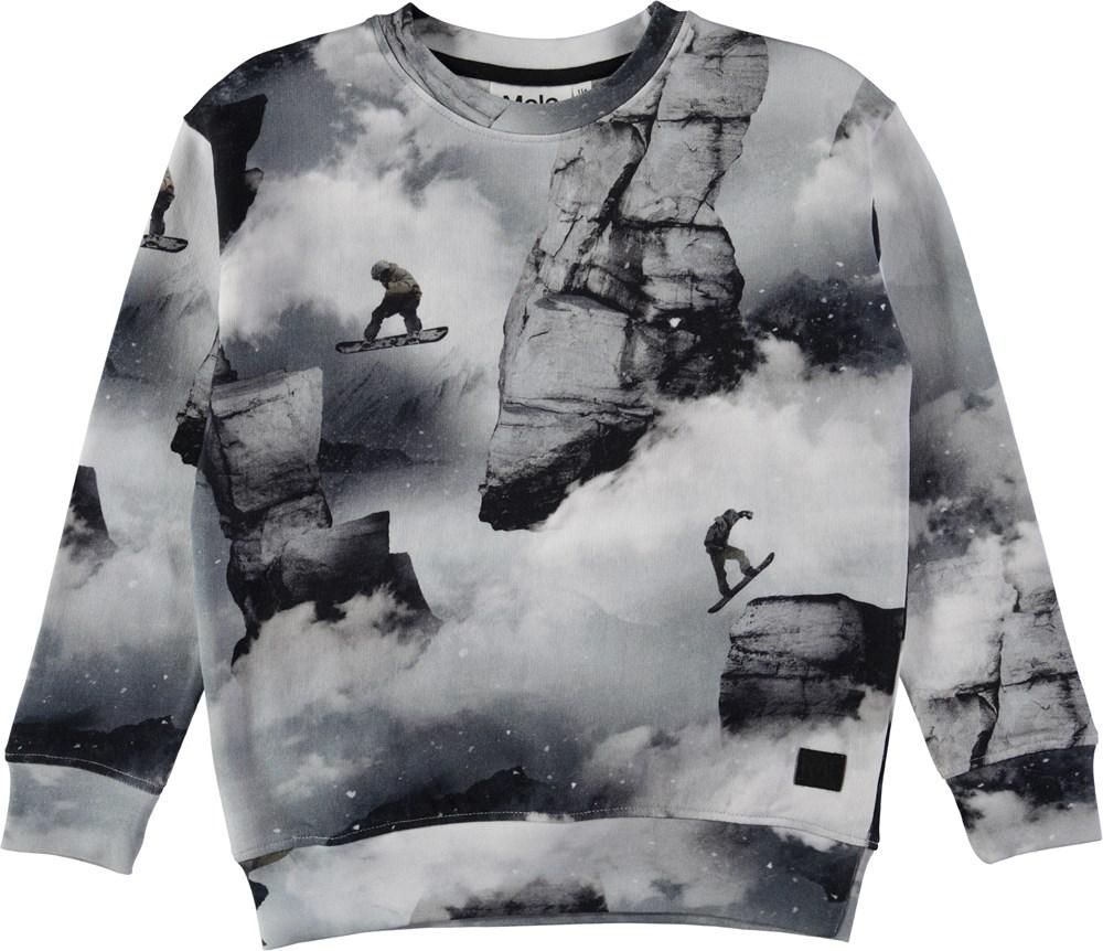 Morell - Snowboarders - Sweatshirt med digitalprintede snowboardere