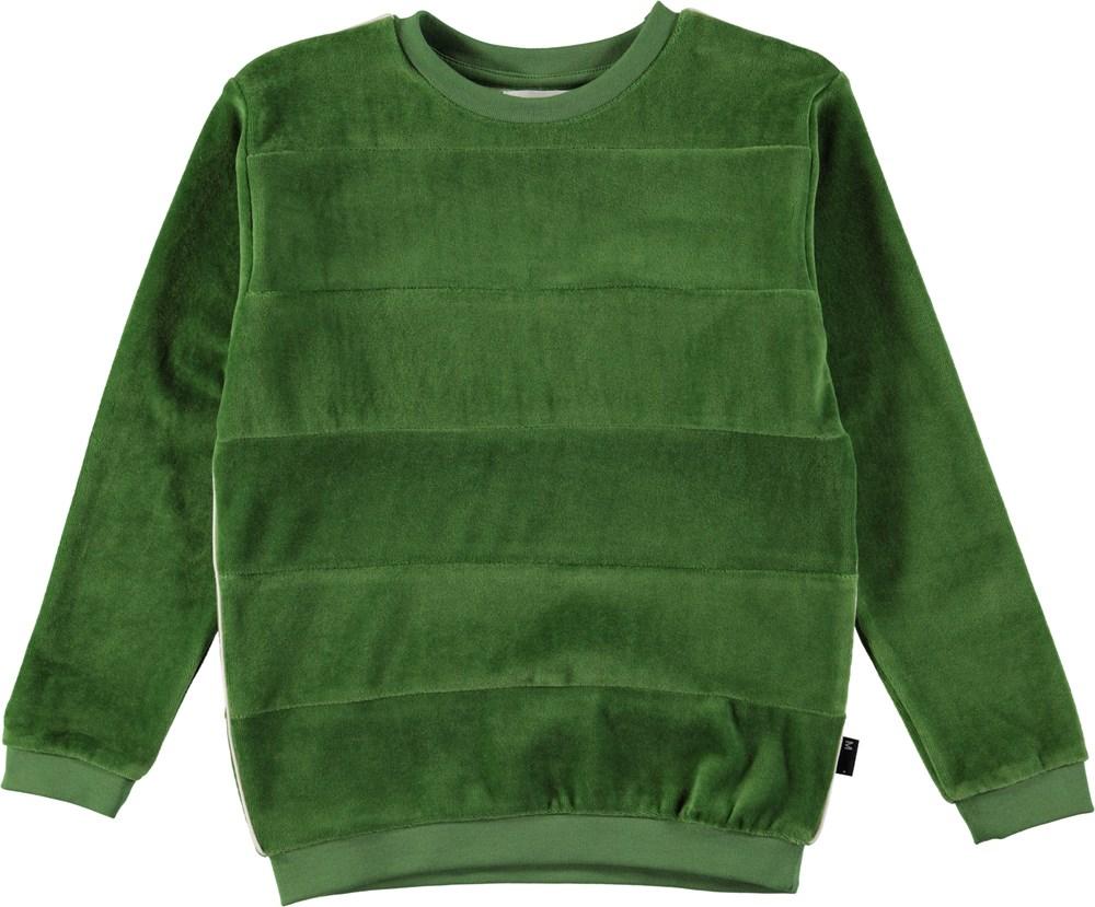 Morris - Field Green - Sweatshirt i grøn velour
