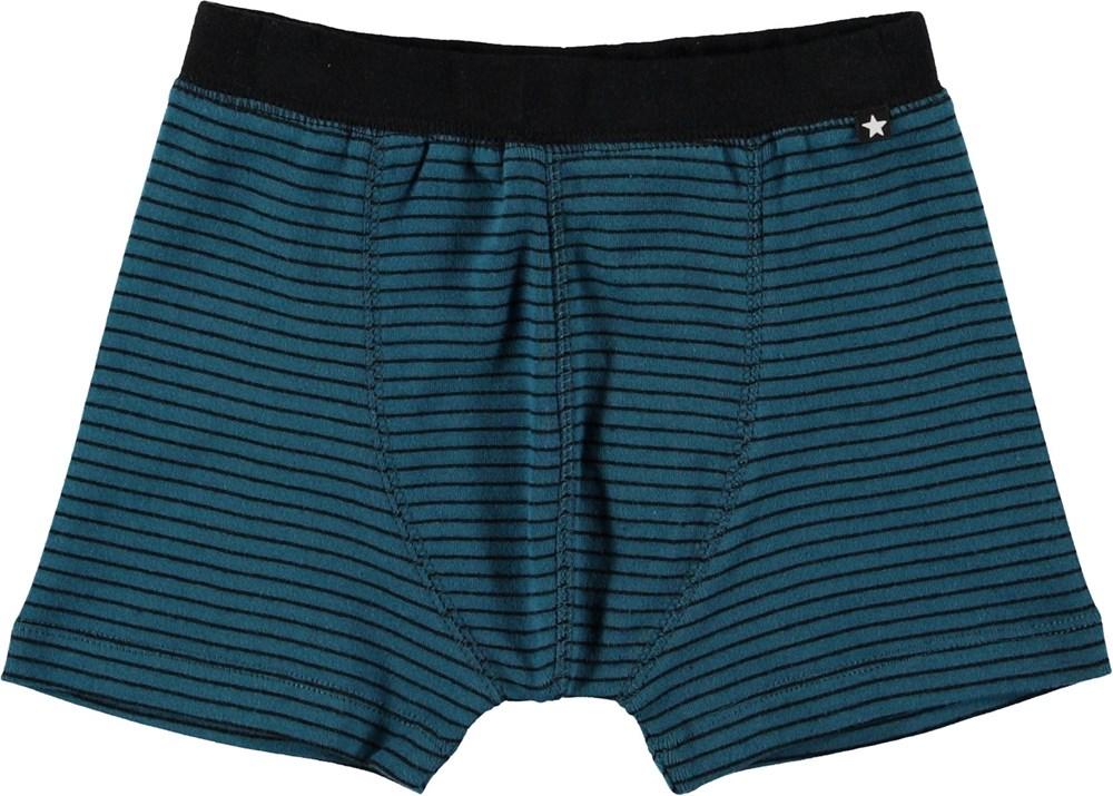 Jon - Frozen Deep Stripe - Boxershort med striber.