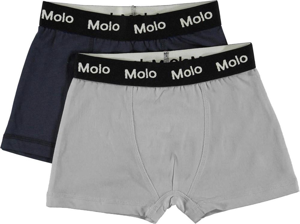 Justin 2-pack - Summer Night - 2-pack boxershorts grå og blå