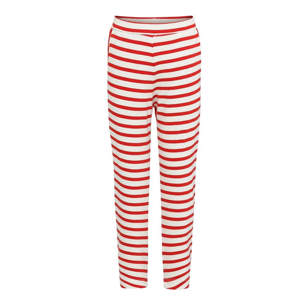 Adelyna - Chili Pearl Stripe - Breton randiga leggings.