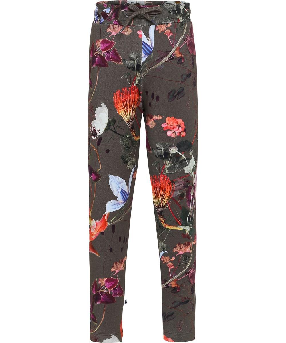 Antonia - Evergreen Flowers - Blommiga sweatpants.