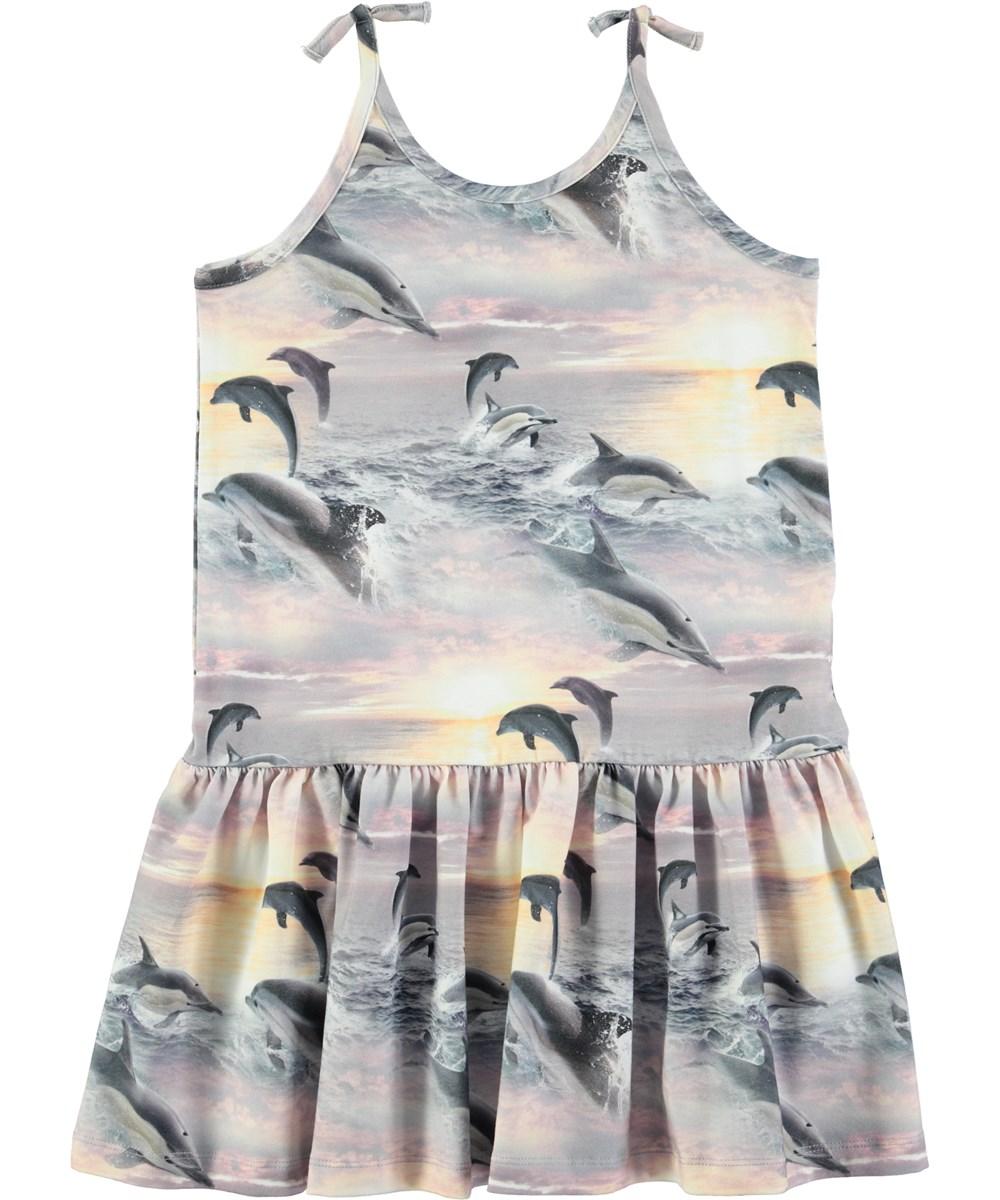 toppmärken fantastiskt urval fri leverans Camilla - Dolphin Sunset - Somrig klänning med digitaltryckta ...
