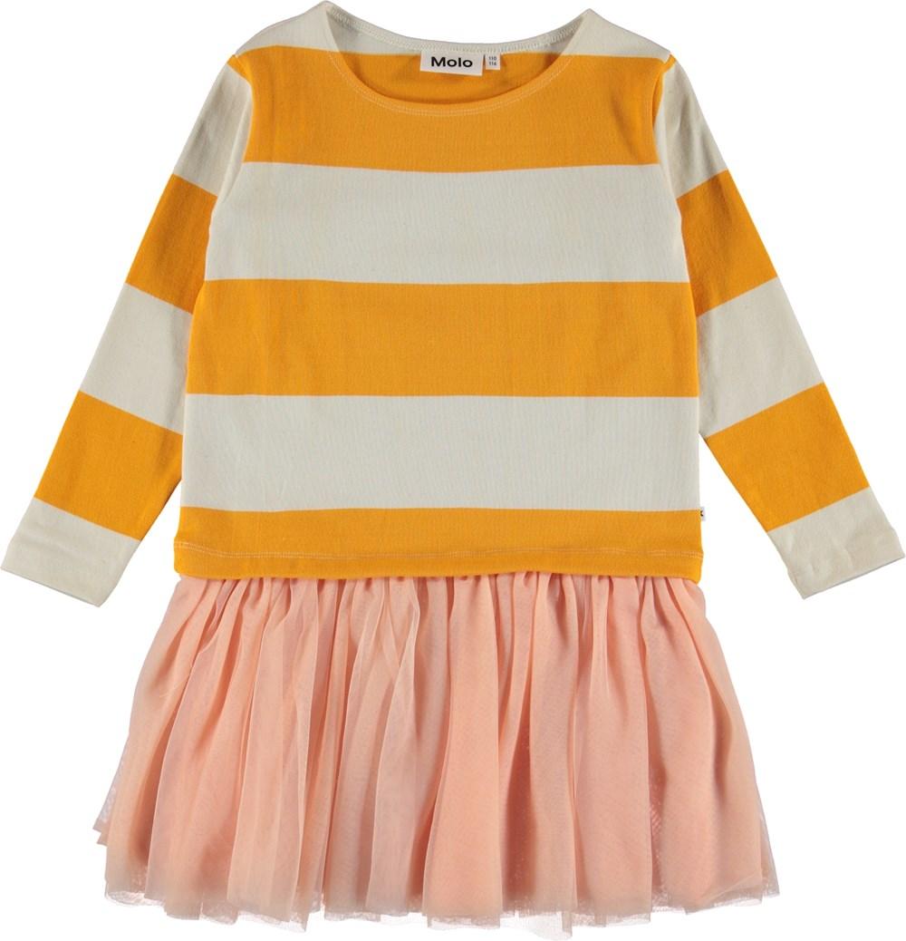 Canna - Orange Bloom Stripe - Randig klänning med tyll kjol.