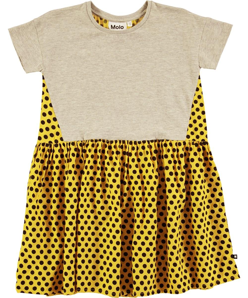 Chelli - Grey Melange - Kortärmad oversize klänning med prickar - Molo 161413ae90313