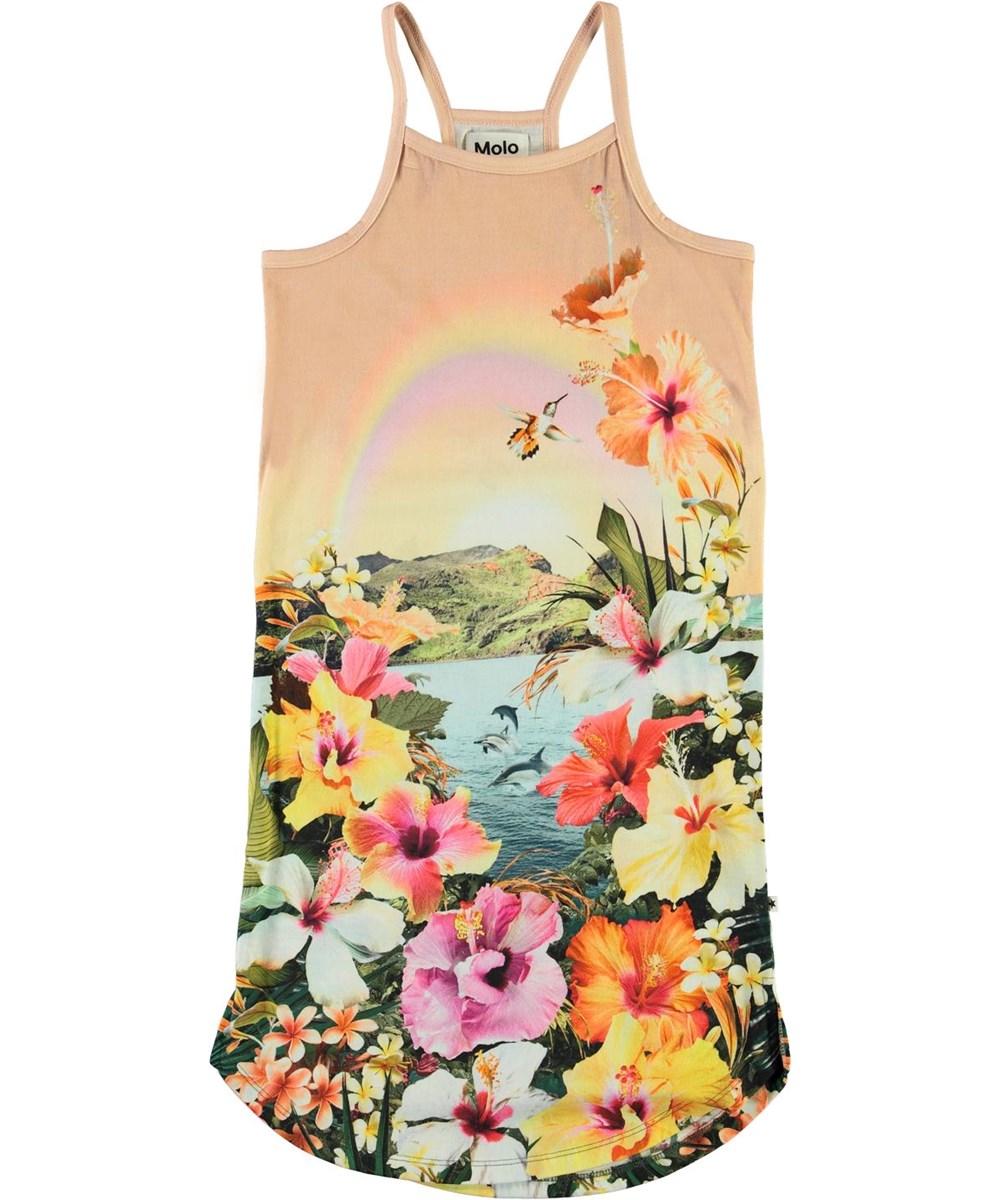 Cortney - Dreamy Hawaii - Ekologisk klänning med blommor och delfiner