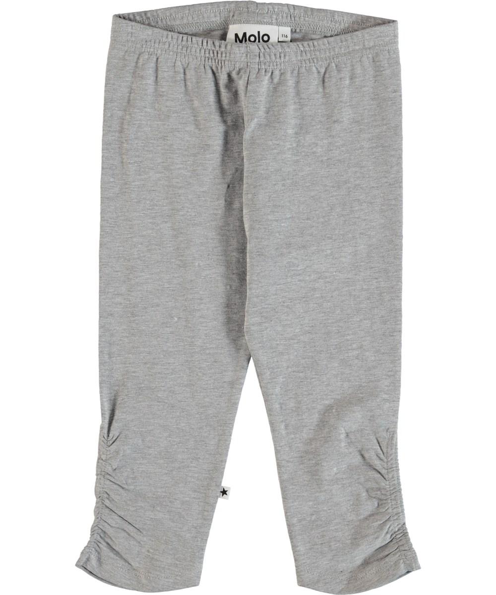 Nila - Light Grey Melange - Leggings