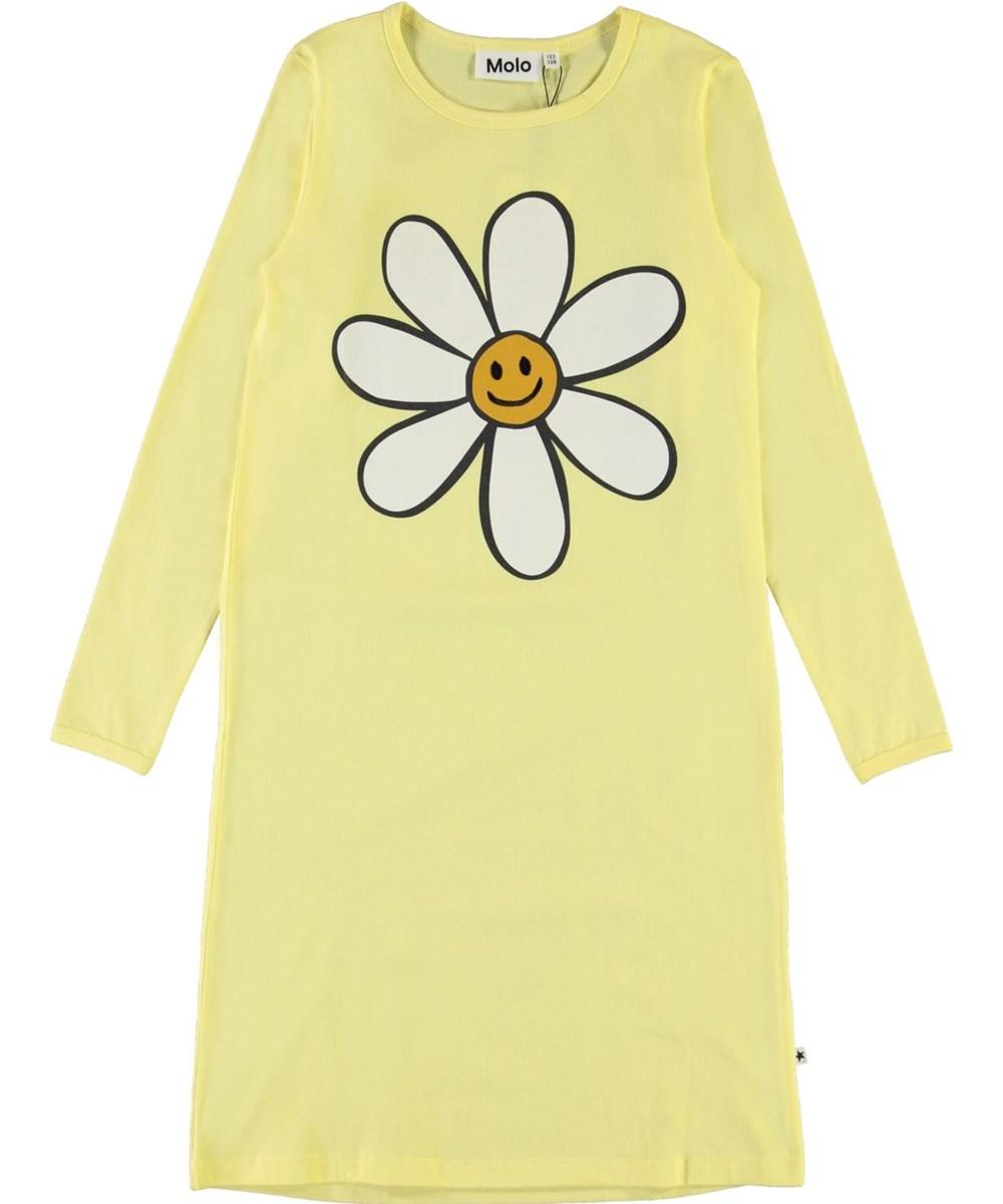 Lovely - Pale Lemon - Ekologisk gul nattklänning