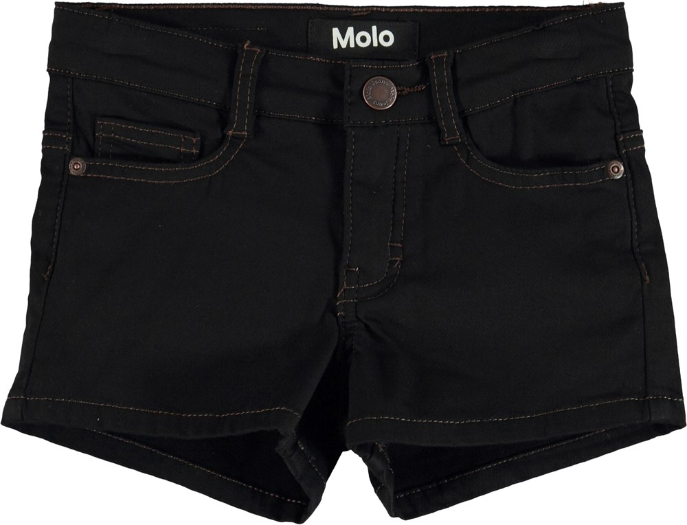 Angelina - Black Summer Denim - Shorts - Black Dummer Denim