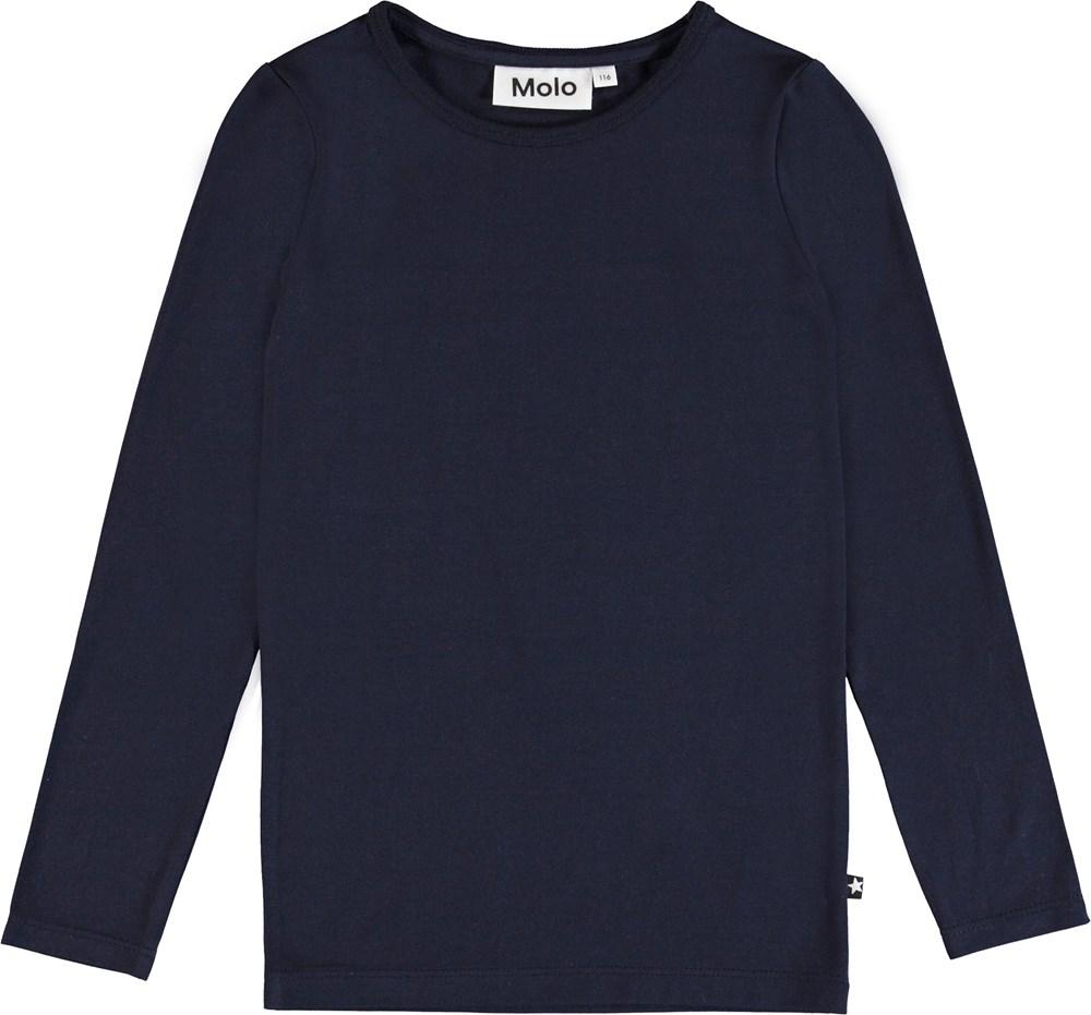 Ramona - Sky Captain - Blå långärmad basic t-shirt.