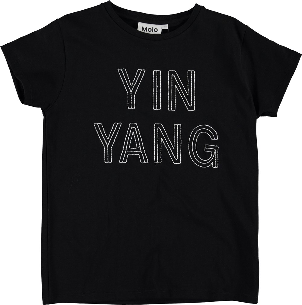 Ranva - Yinyang Black - Ying yang t-shirt