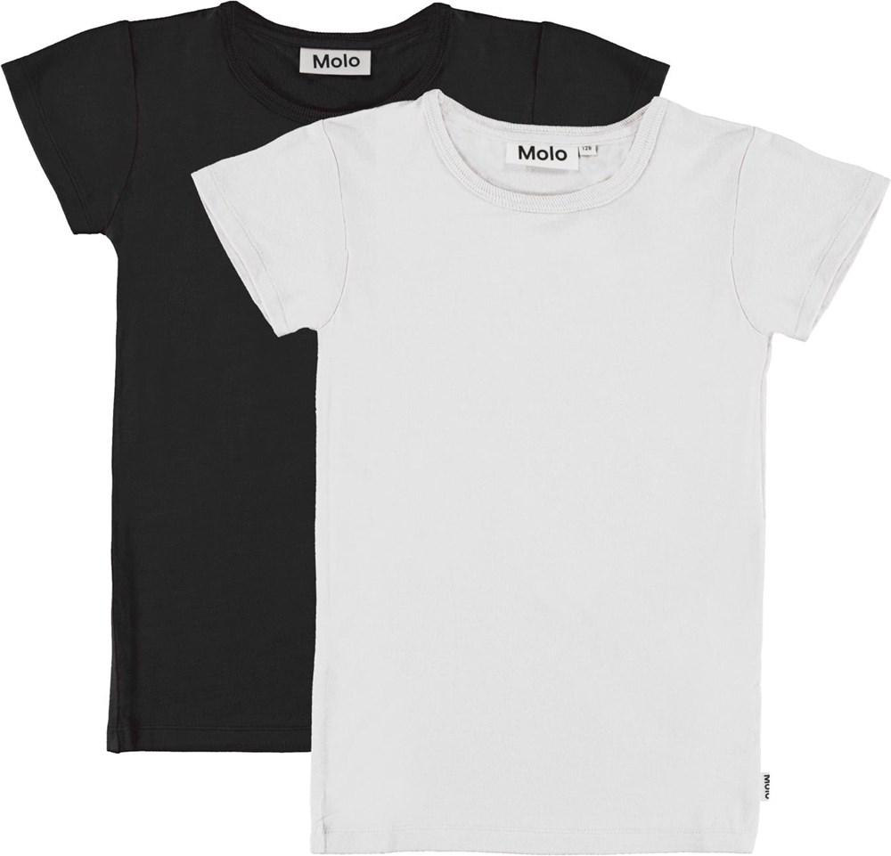 Rasmine 2-Pack - Black White - Svart och vit t-shirt