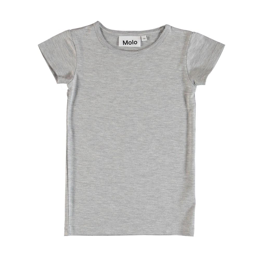 Rasmine - Grey Melange - T-Shirt