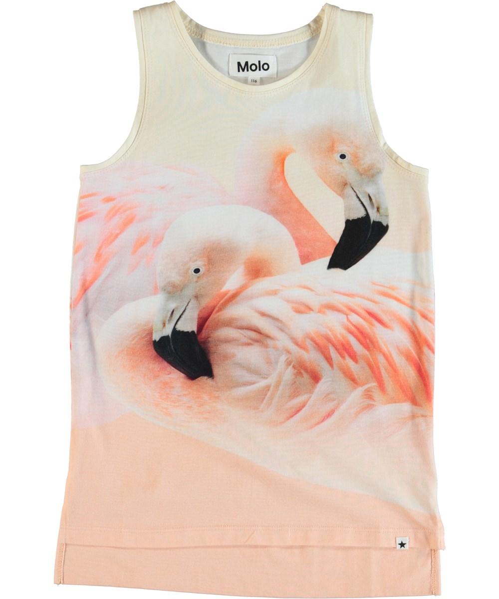 Ro - Flamingo Dream - Topp med flamingo.