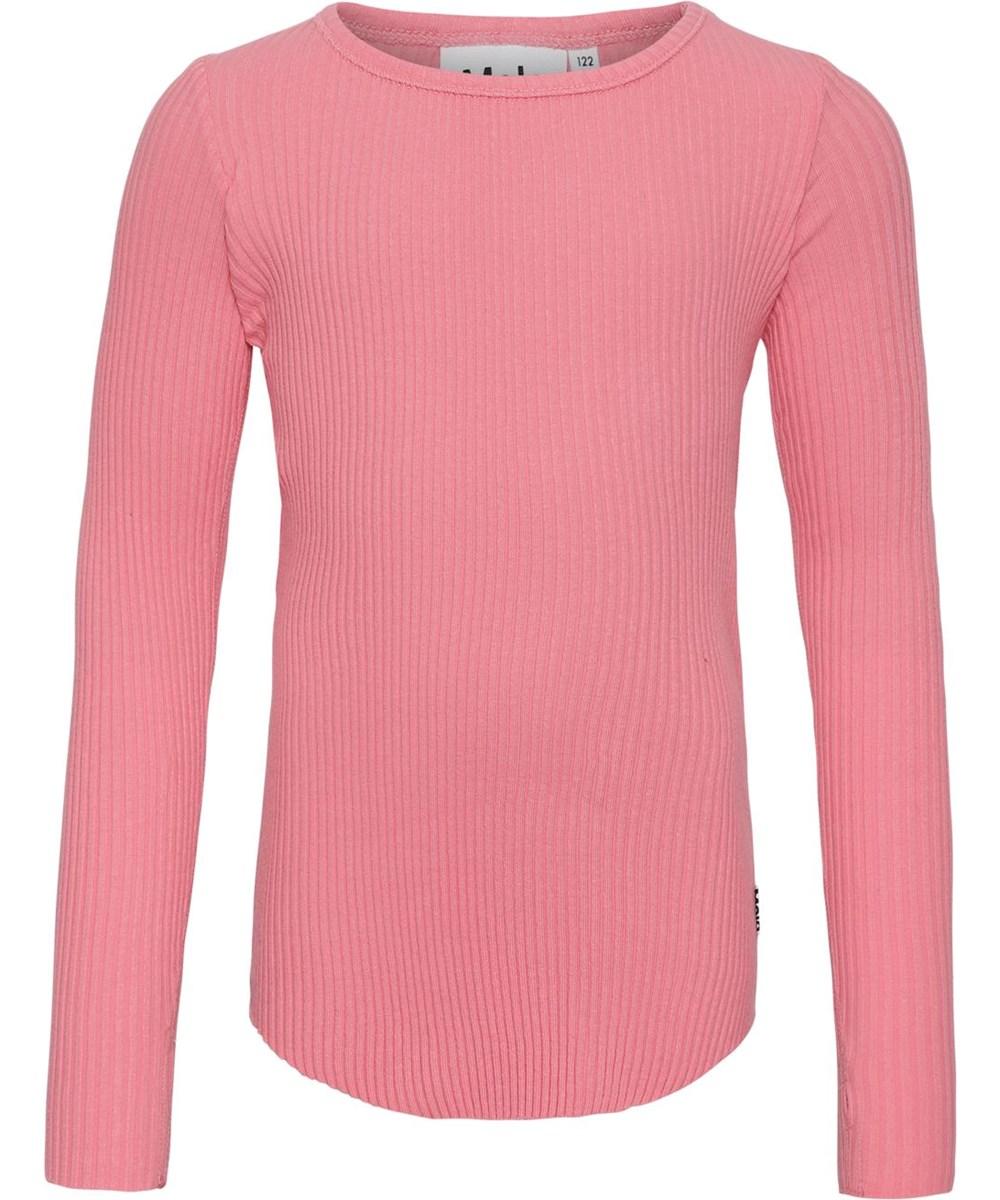 Rochelle - Hyper - Ekologisk ribbad rosa tröja