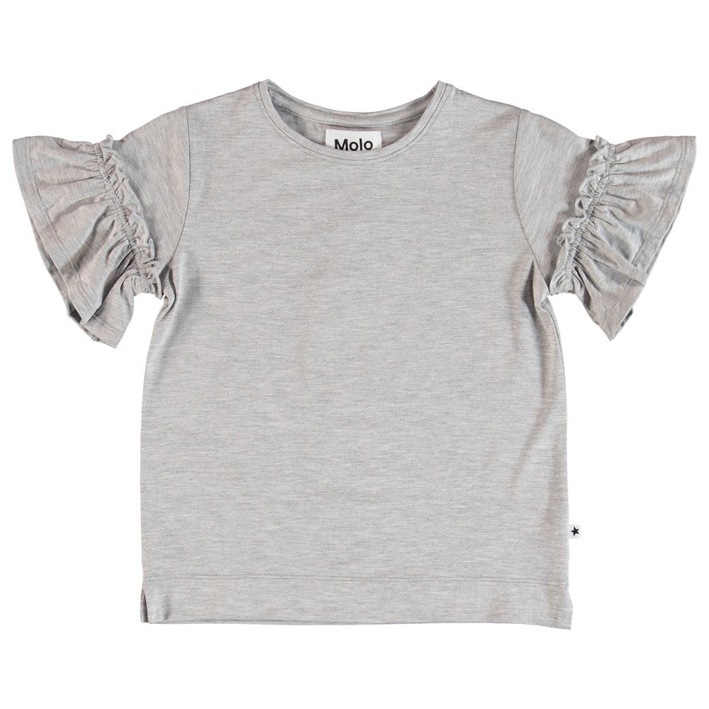 Rosarja - Light Grey Melange - T-Shirt