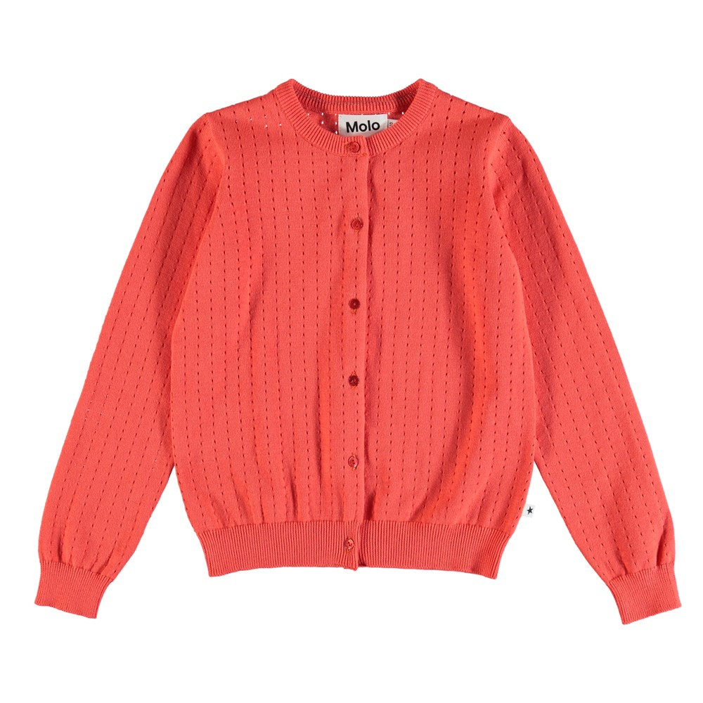 Georgina - Hot Coral - Cardigan