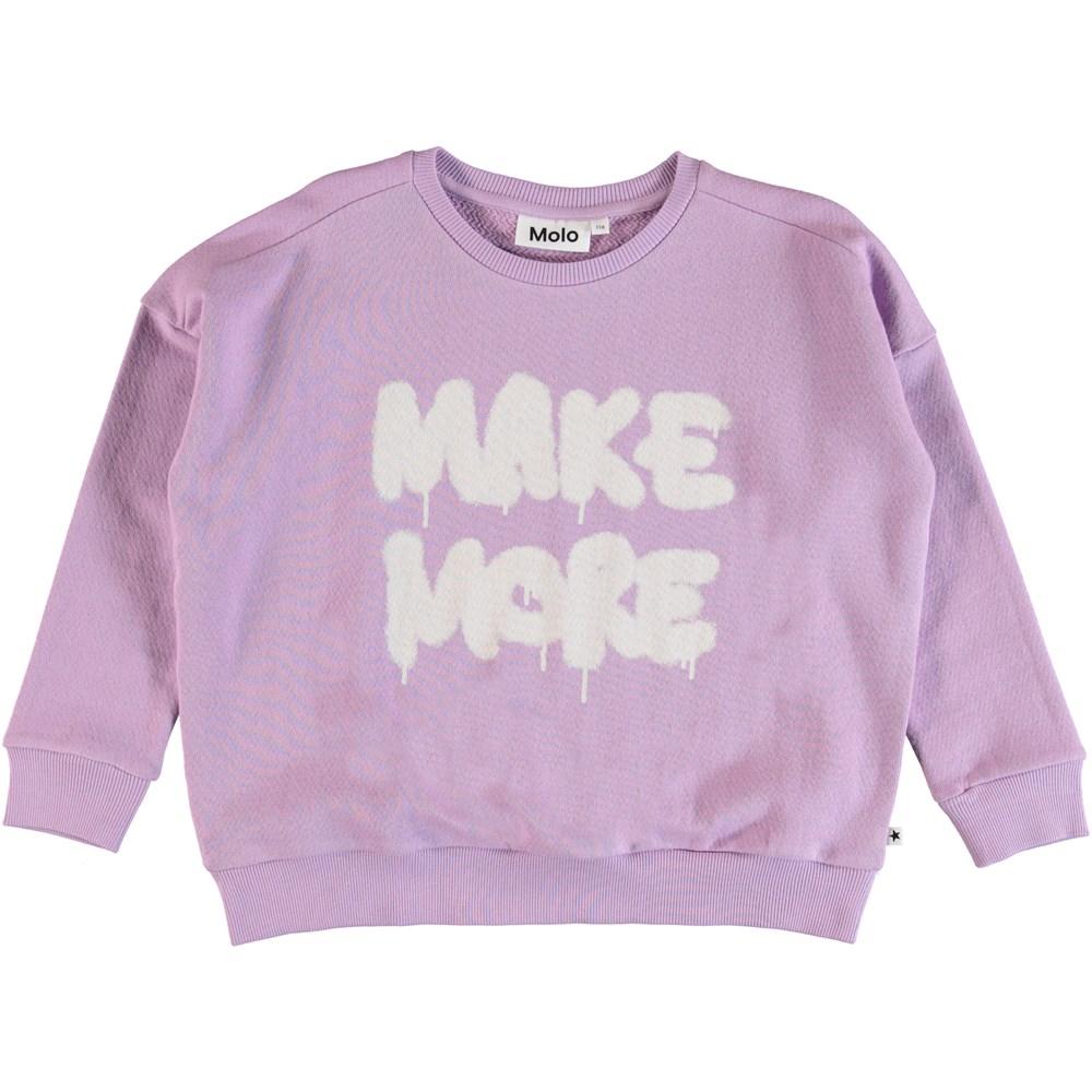 Mandy - Alpine Flower - Sweatshirt med tryck framtill.