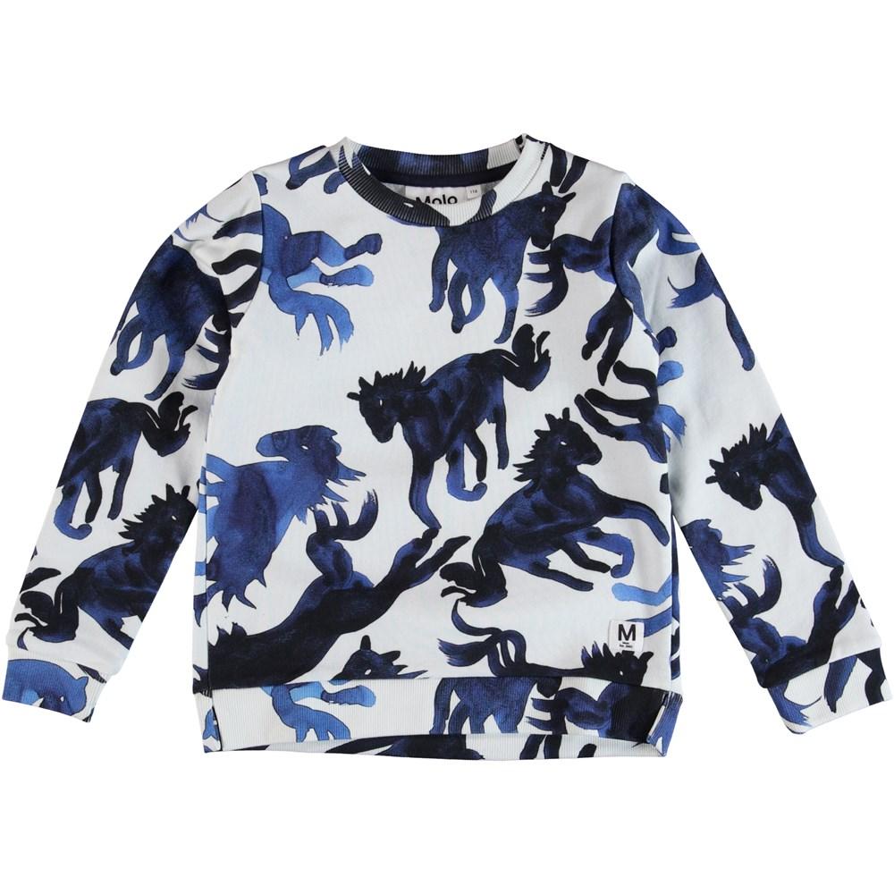 Marlee - Blau Horses - Sweater