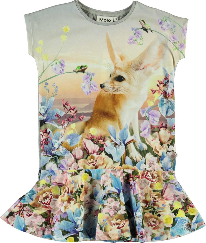 Caeley - Fennec - Dress with a desert fox print