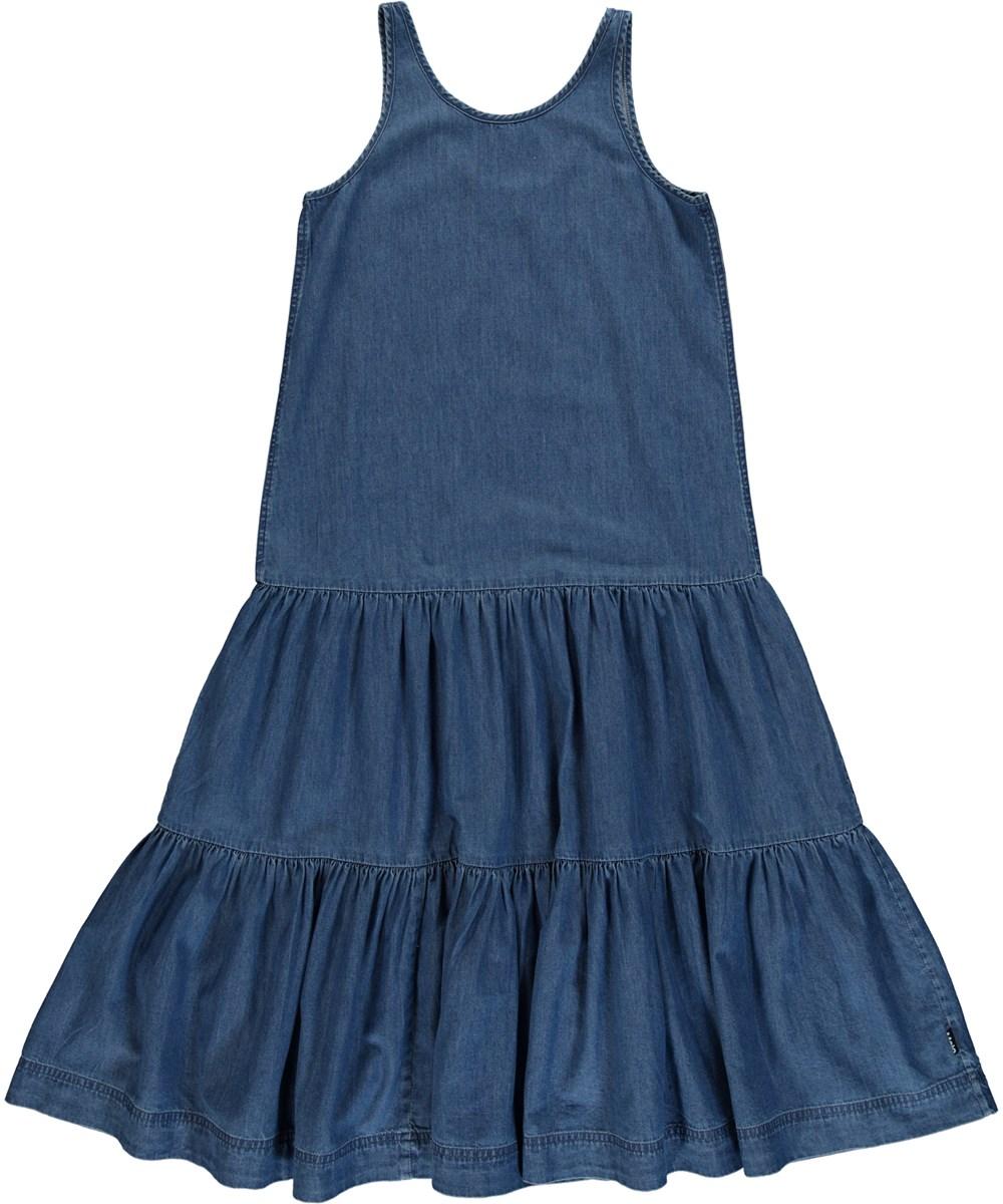 Cai - Washed Indigo - Blue denim dress