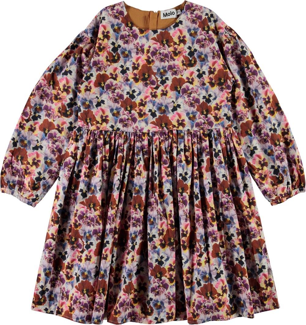Caja - Pansy - Organic cotton dress with floral print