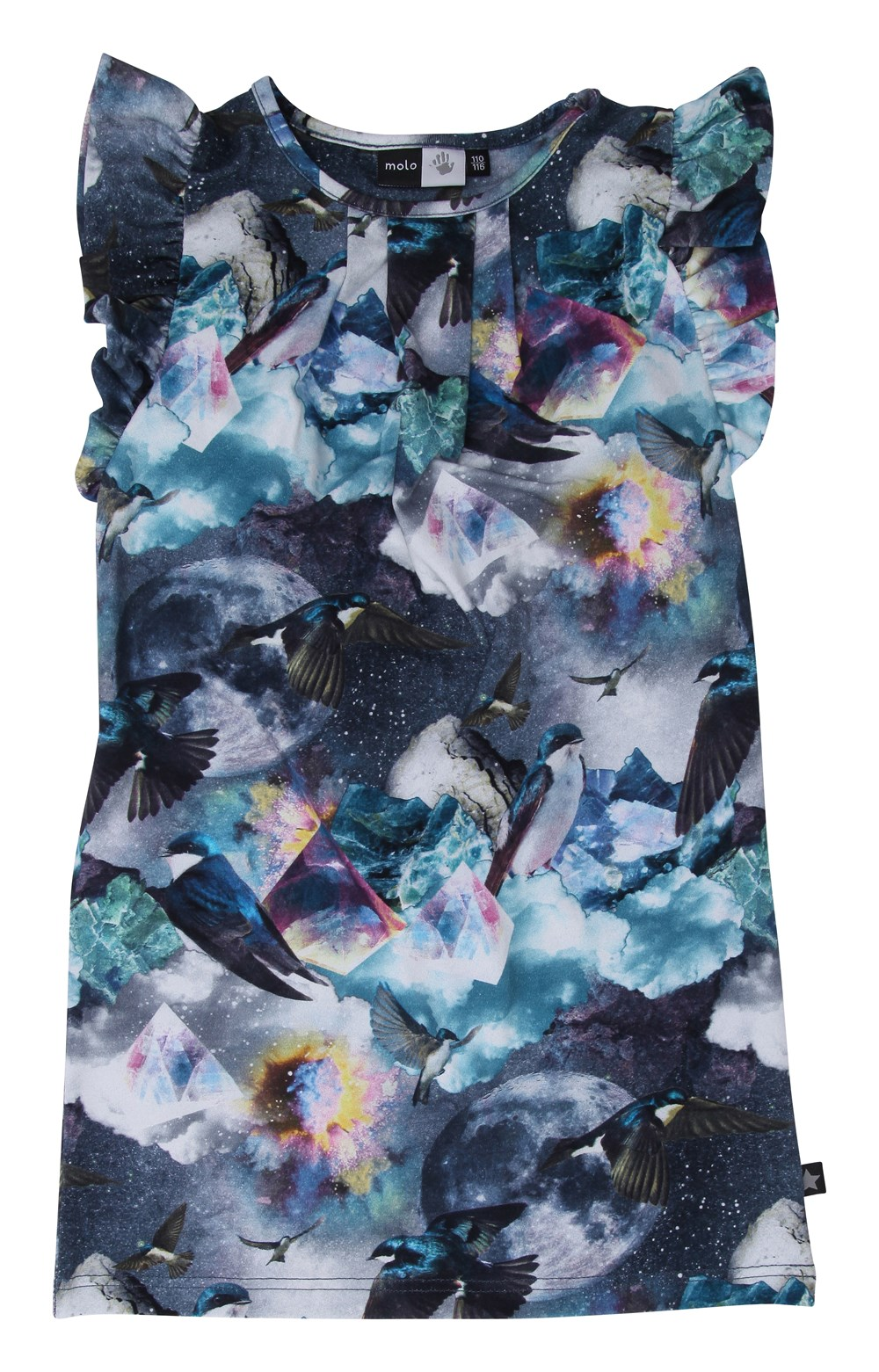 Cam - Mineral Universe - molo printed top with butterfly sleeves