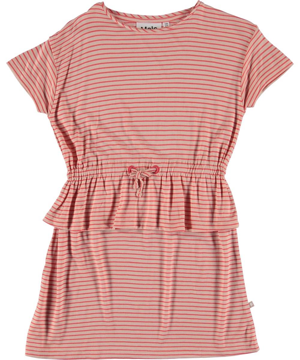 Camma - Hot Coral Stripe - Dress