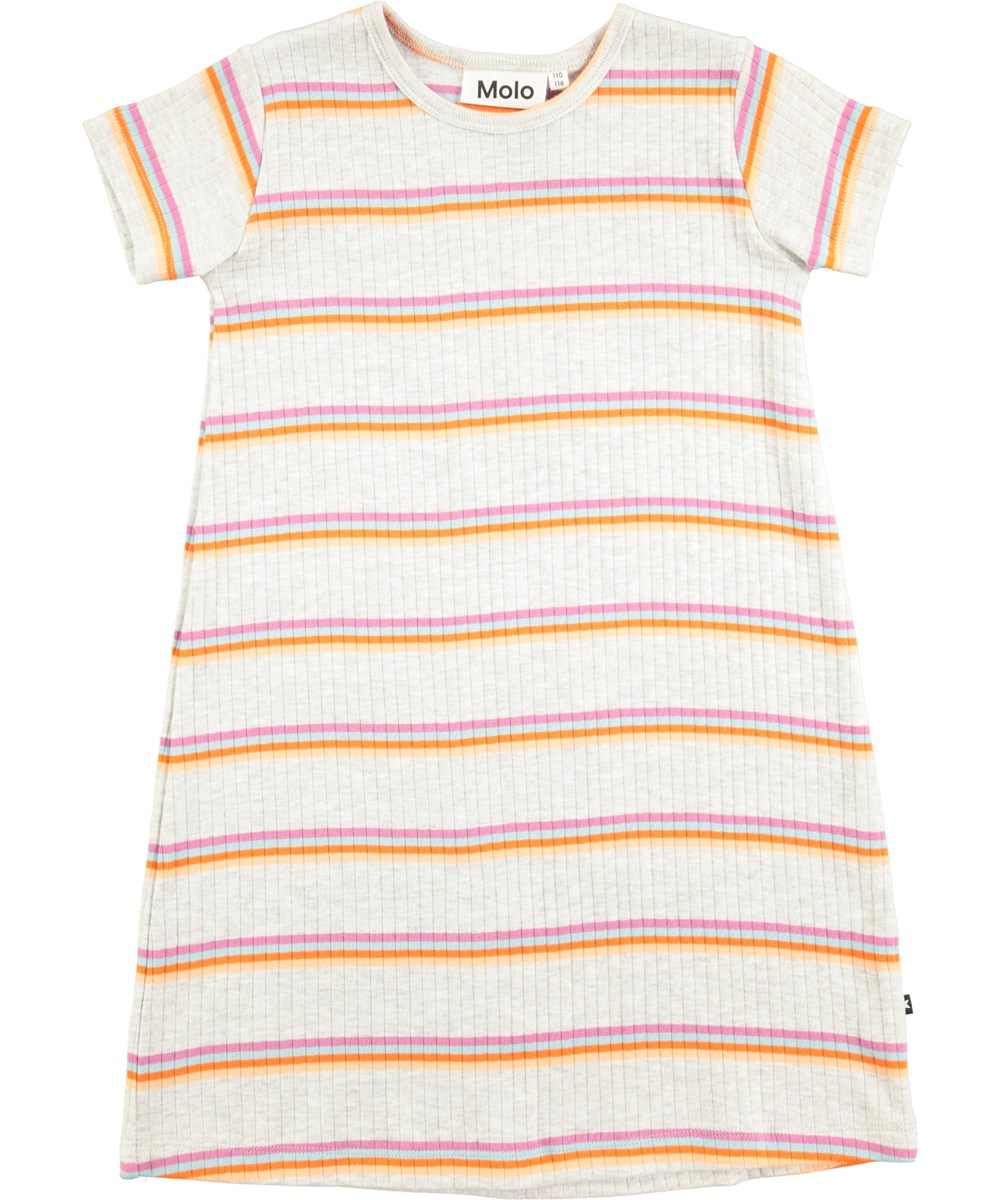 Campa - Mini Sunset Stripe - Short sleeve striped dress