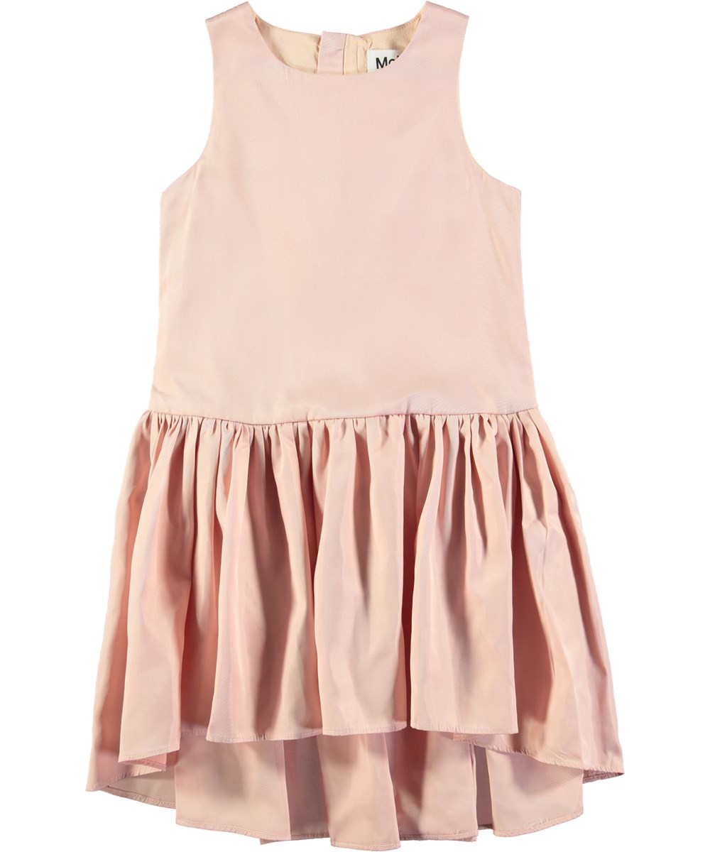 Candece - Dawn - Rose coloured, sleeveless dress with skirt