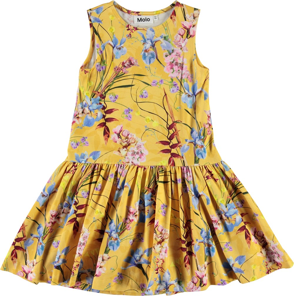 Candece - The Art Of Flowers - Yellow organic dress