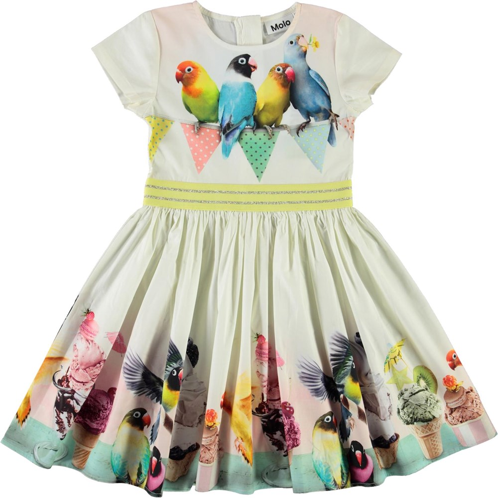 Candy - Ice Ice Birdie - Organic dress with ice cream and birds