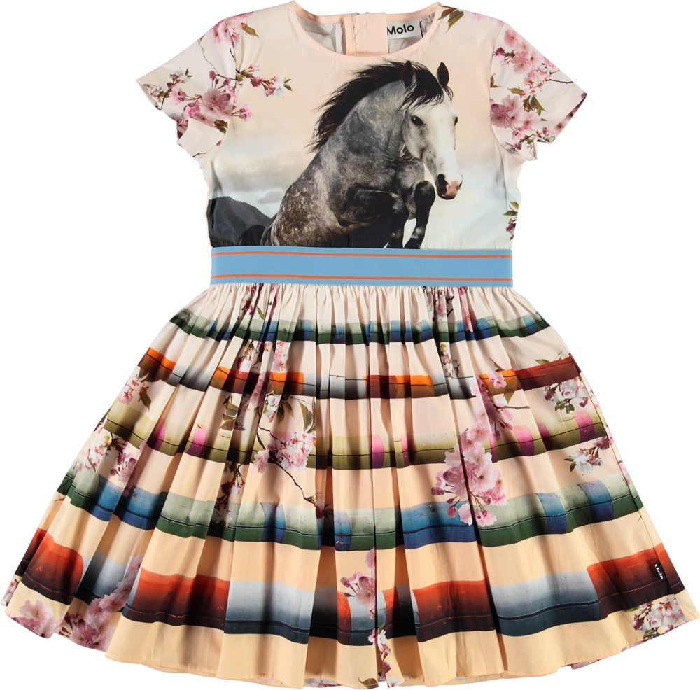Candy - Jumping Horse - Organic dress with horse