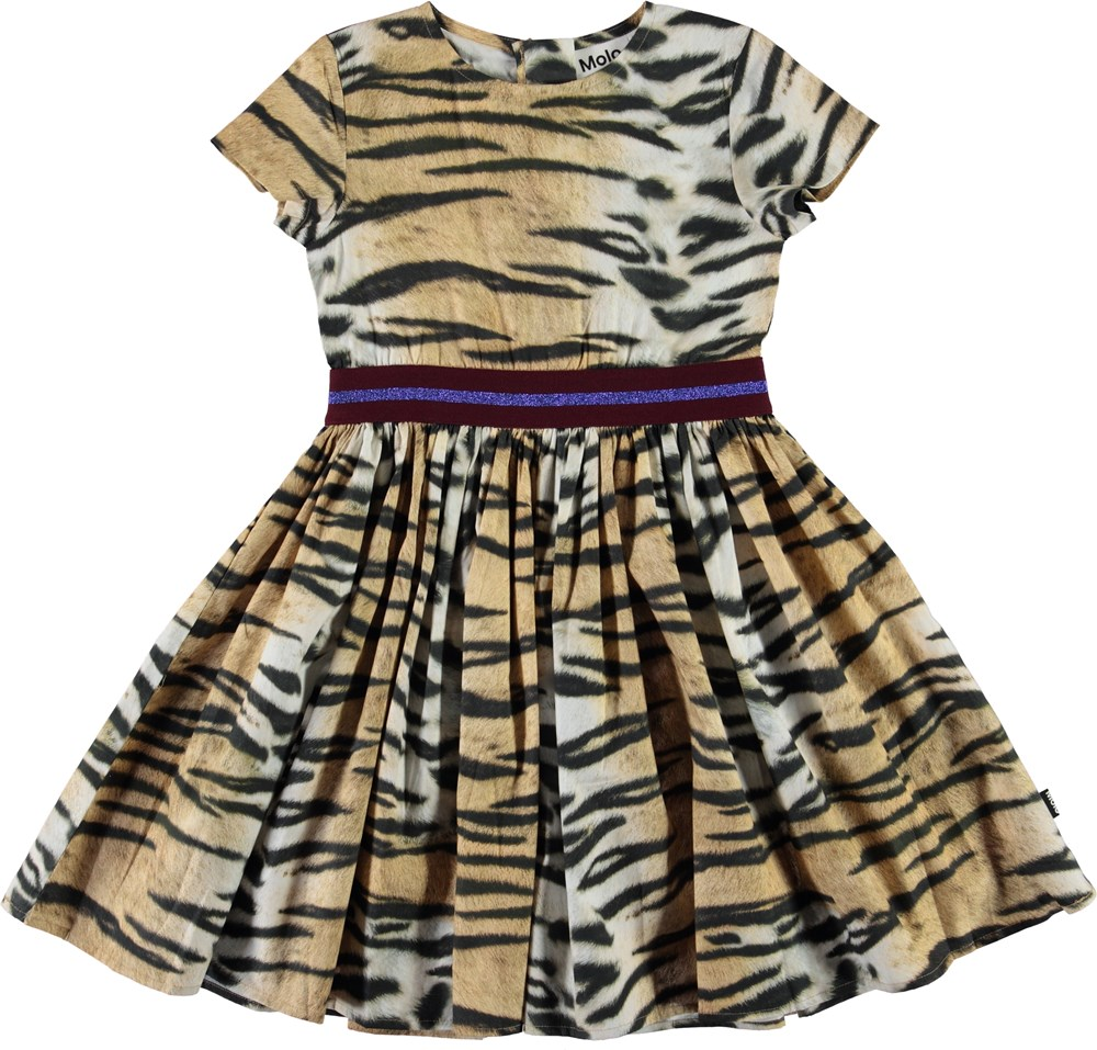 Candy - Wild Tiger Woven - Organic dress with tiger print