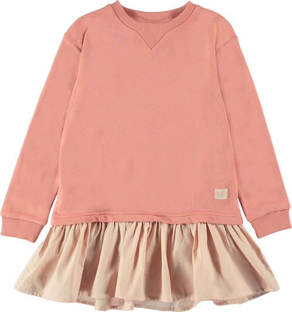Caprice - Rosewater - Pink sweatshirt dress.