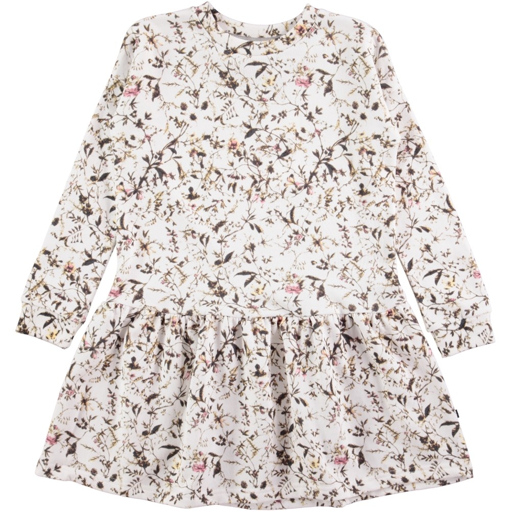 Cara - Meadow - long sleeve sweatshirt dress with flowers
