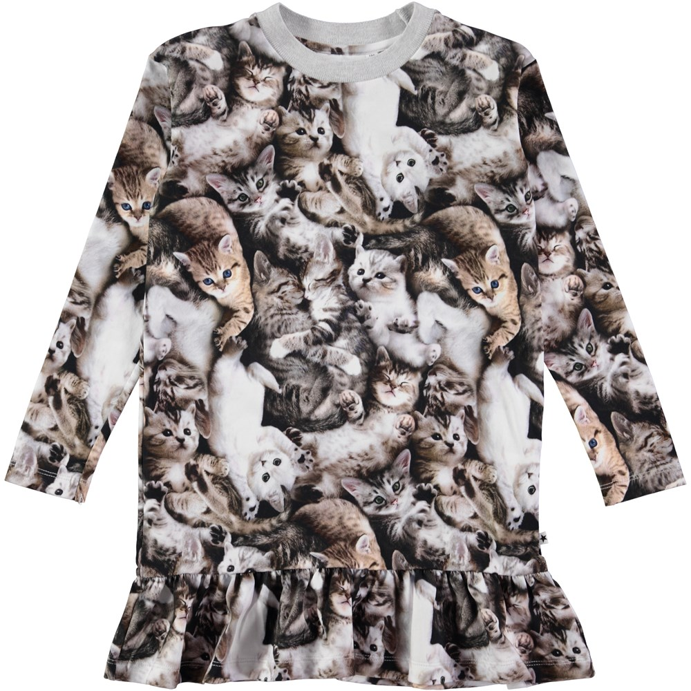 Caras - Miauuu - oversized dress with cats