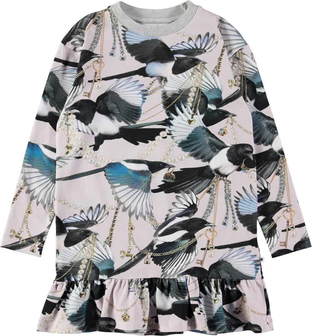 Caras - Treasure Hunters - Sweet oversized dress with digital magpie print