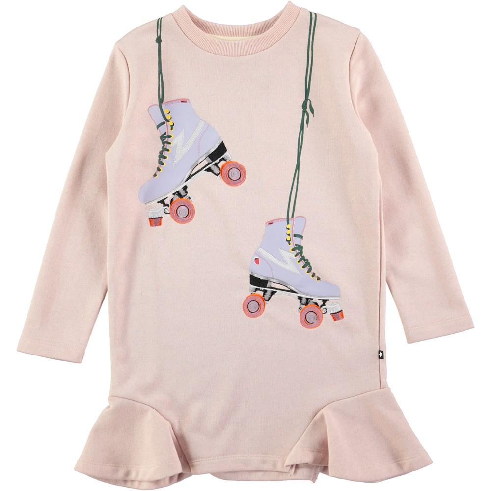 Carita - Cameo Rose - long sleeve pink sweatshirt dress