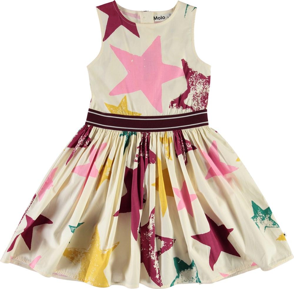 Carli - Super Nova - Organic poplin dress with stars