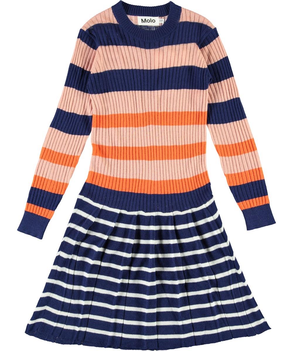 Carlin - Faded Stripe - Striped knit dress