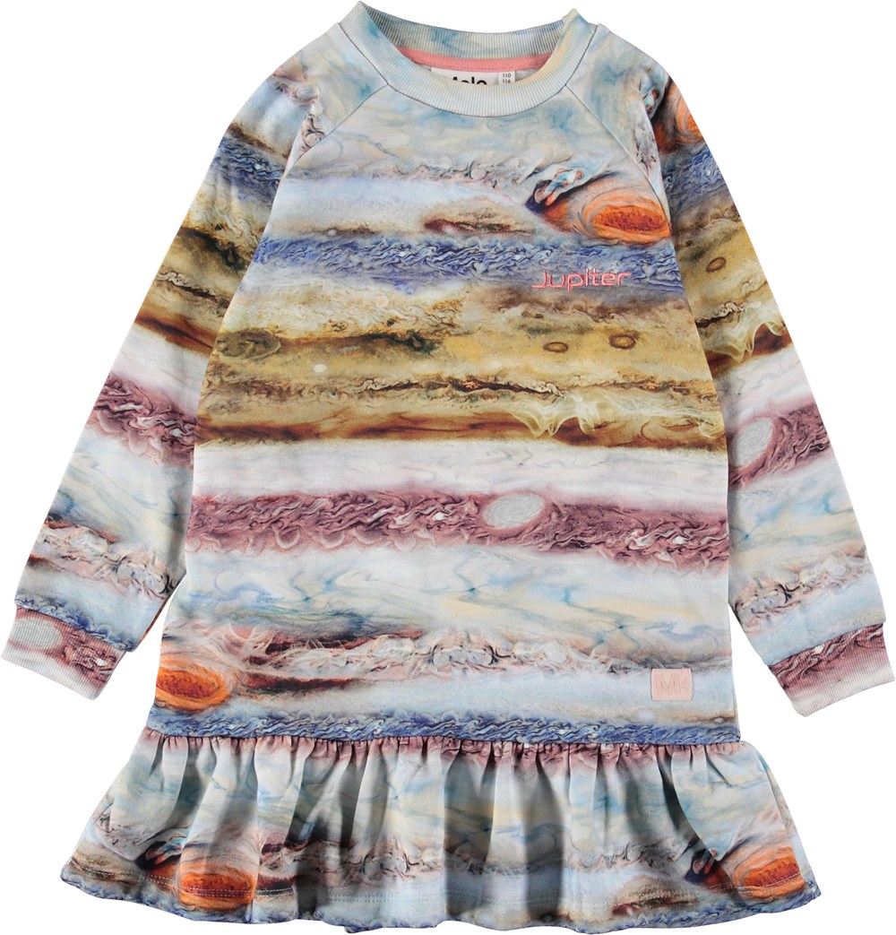 Carlotta - Stormy Jupiter - Sweatshirt dress with stripes.