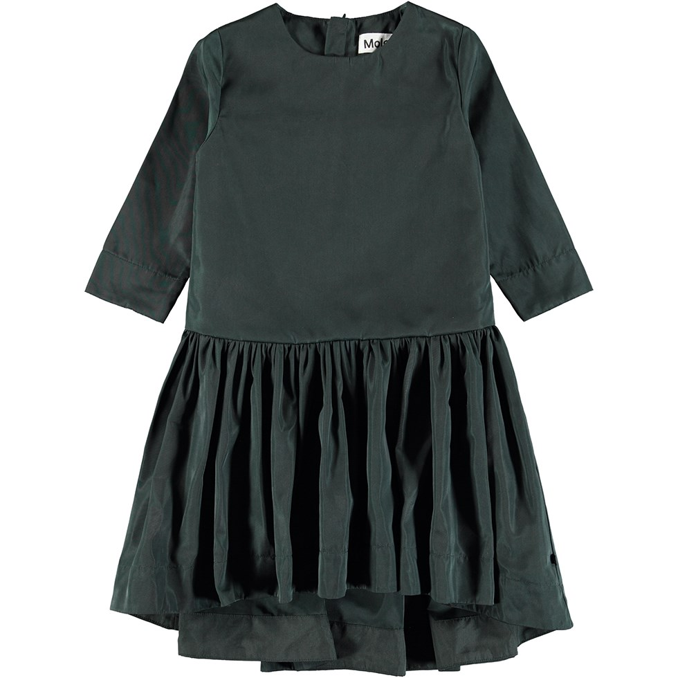 Chablis - Oil - Oil-green dress with 3/4 length sleeves