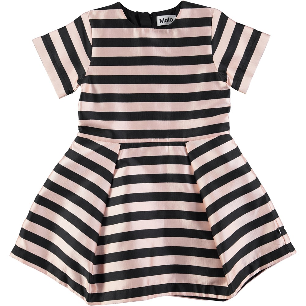 Chadee - Ponderosa Pine Melange - short sleeve dress with graphic stripes