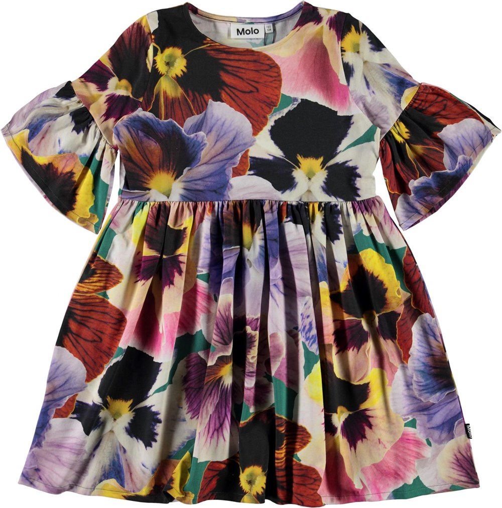 Chasity - Velvet Floral - Organic dress with floral print