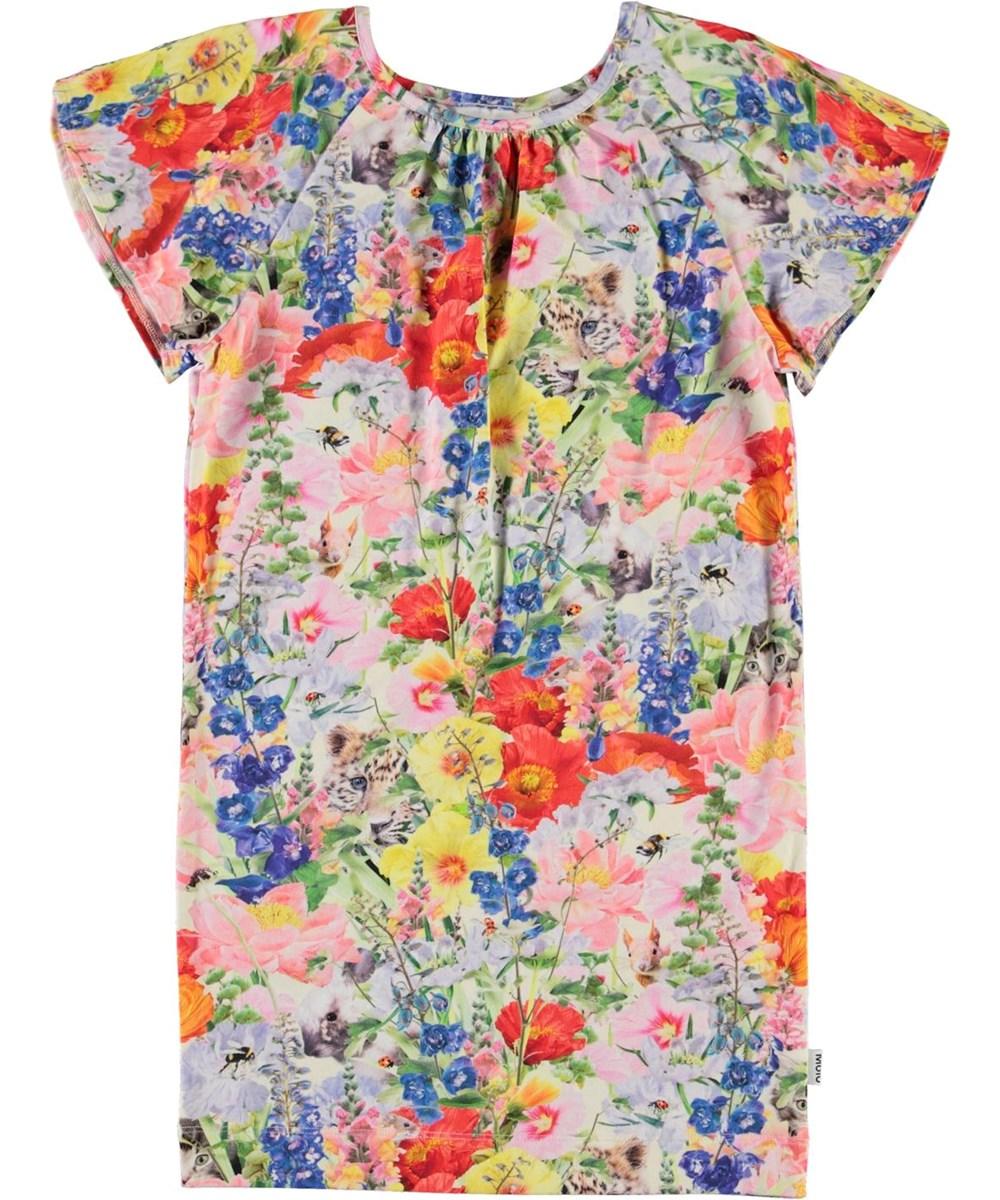 Cherinne - Hide And Seek - Pink dress with floral print