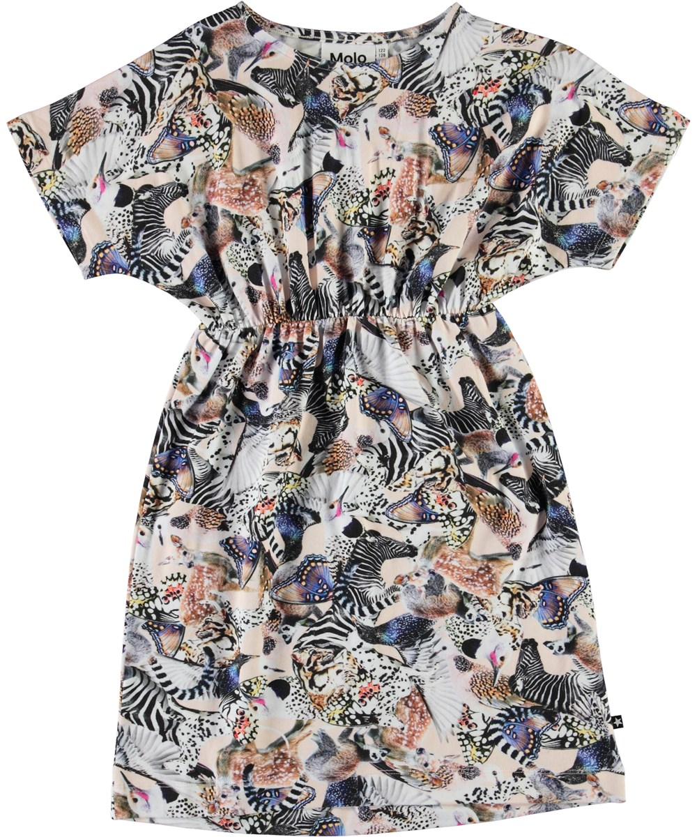 Christa - Twister - Organic dress with animal print
