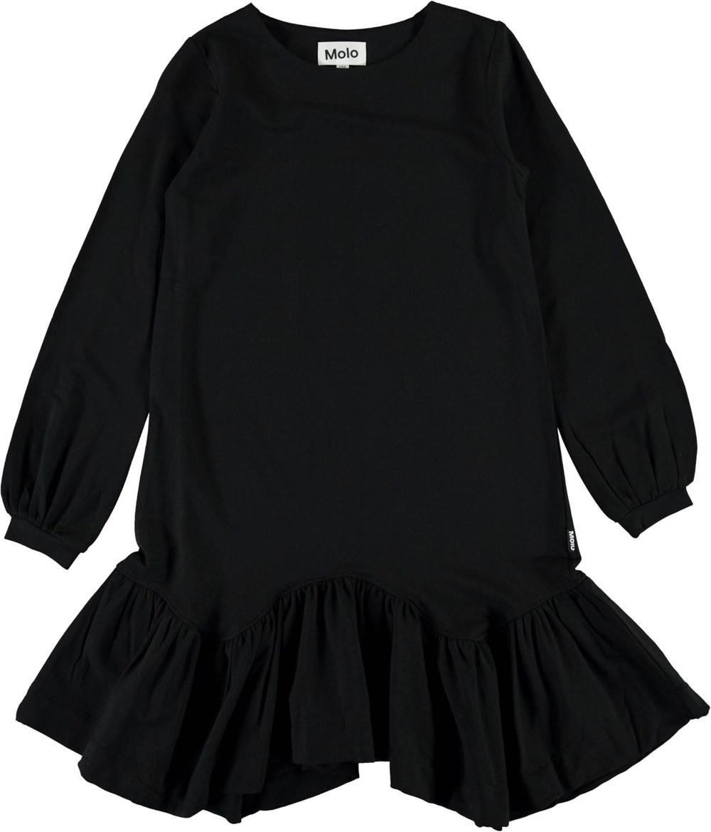 Christen - Black - Black dress with long sleeves