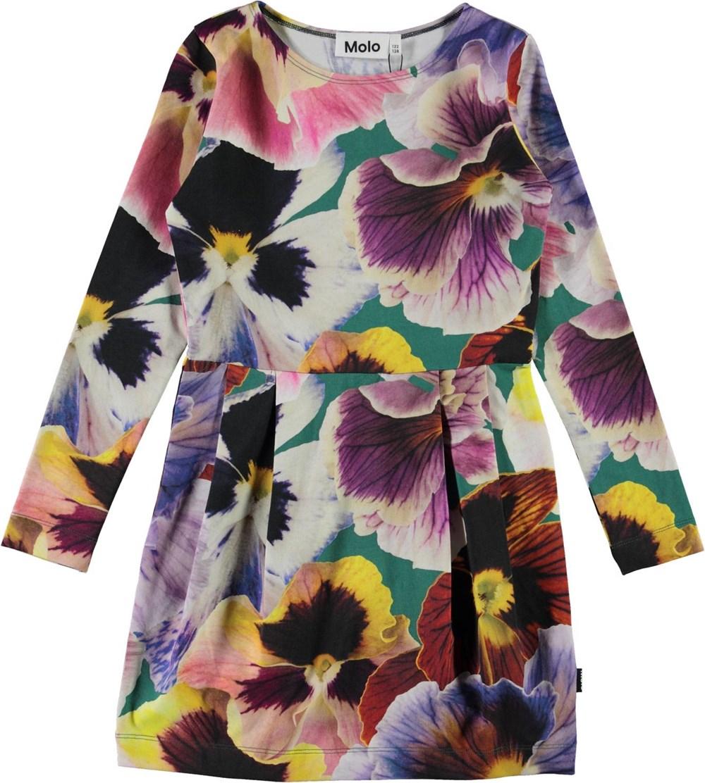 Cindarell - Velvet Floral - Organic dress with floral print