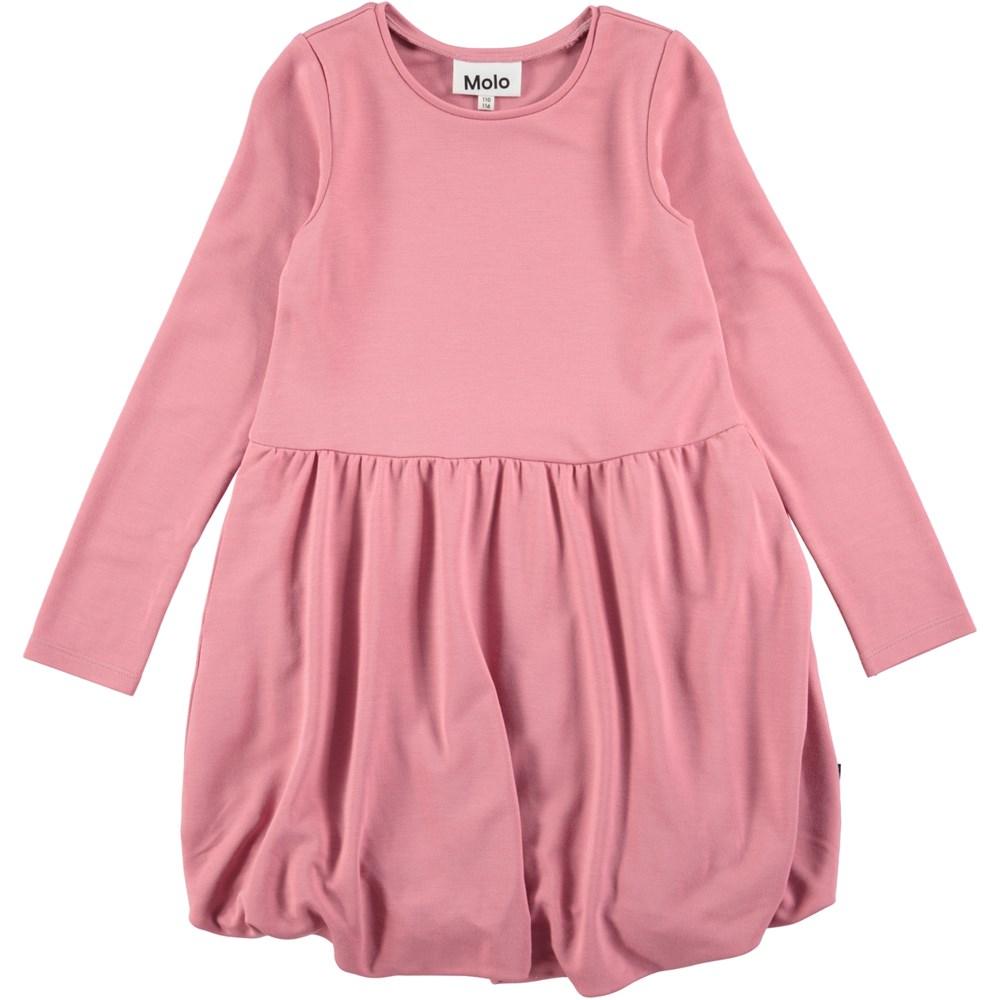 Clementine - Fox Glove - long sleeve rose coloured balloon dress